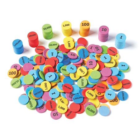 Learning Resources Place Value Disks, Set of 280 Pieces, Ages (Math Place Value Chart)
