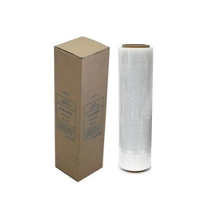 "Absolute USA Single Original Roll Clear Plastic Film Pallet Shrink Wrap 18"" x 1500 sq. ft. (SW181C)"