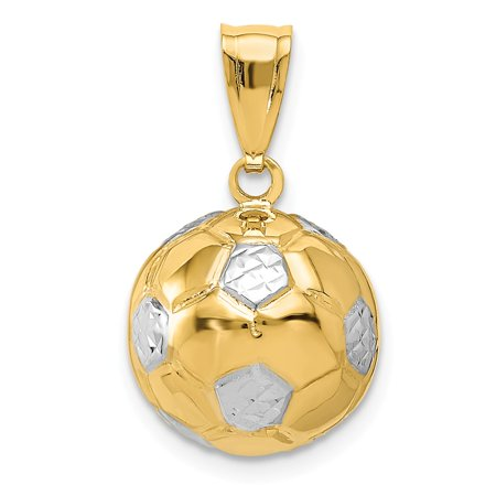 14k Yellow Gold Soccer Ball Pendant 14kt Gold Soccer Ball Charm