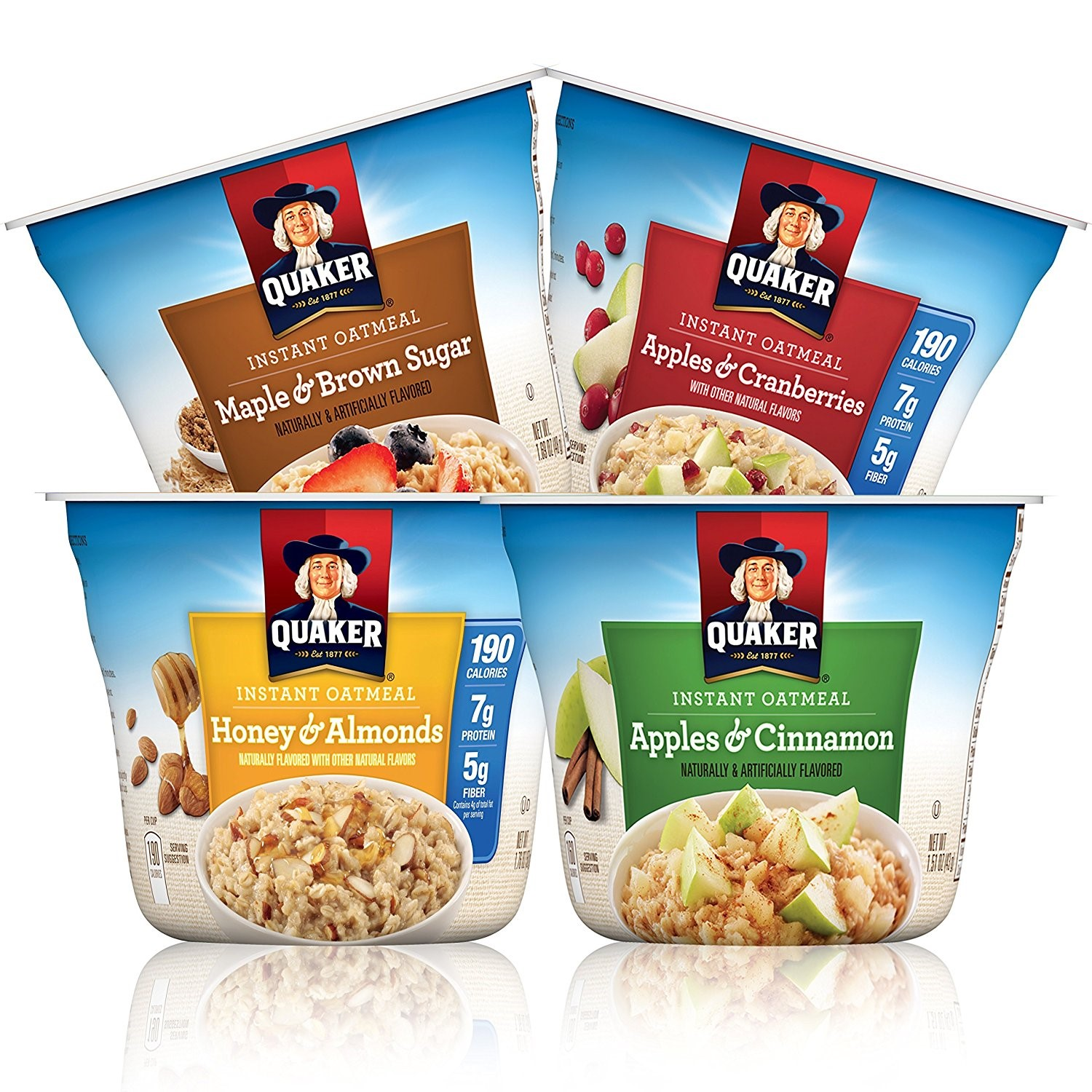 Quaker Instant Oatmeal Express Cups, Variety Pack, 12 Count