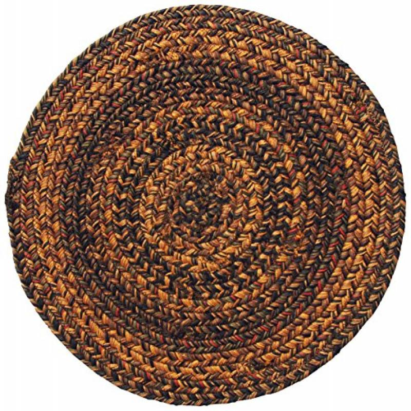 Homespice Trivet Round Jute Braided Rugs, 15-Inch, Salem