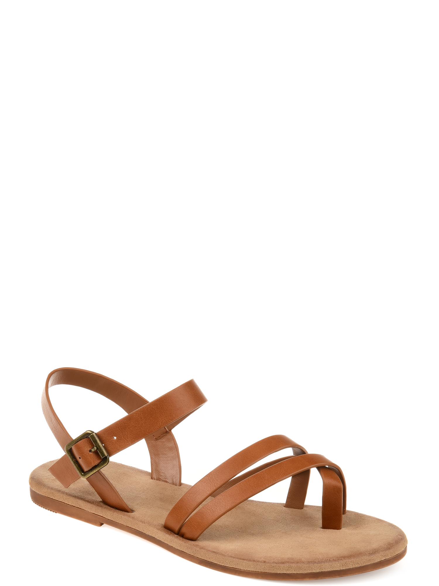 Brinley Co. Womens Strappy Ankle Wrap Sandal