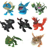 Set of 8 Pcs How To Train Your Dragon Night Fury Toothless Cake Toppers
