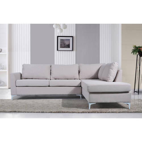 Nathaniel Home Landon Reversible Linen Sectional, Multiple Colors