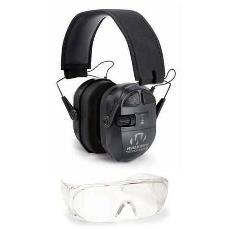 Walker's Game Ear Ultimate Power Muff Quads and OTG Shooting Glasses Kit, (Walkers All Sport Glasses)