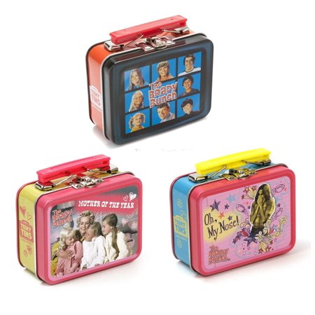Retro TV Teeny Tin Lunch Box, 3 Random Designs Set