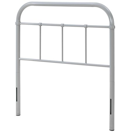 Modern Contemporary Urban Design Bedroom Twin Size Headboard, Metal Steel, Grey