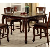 Furniture of America Delaine Traditional Style Counter Height Dining Table