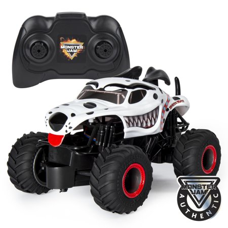 Monster Jam, Official Monster Mutt Dalmatian Remote Control Monster Truck, 1:24 Scale, 2.4 GHz, for Ages 4 and