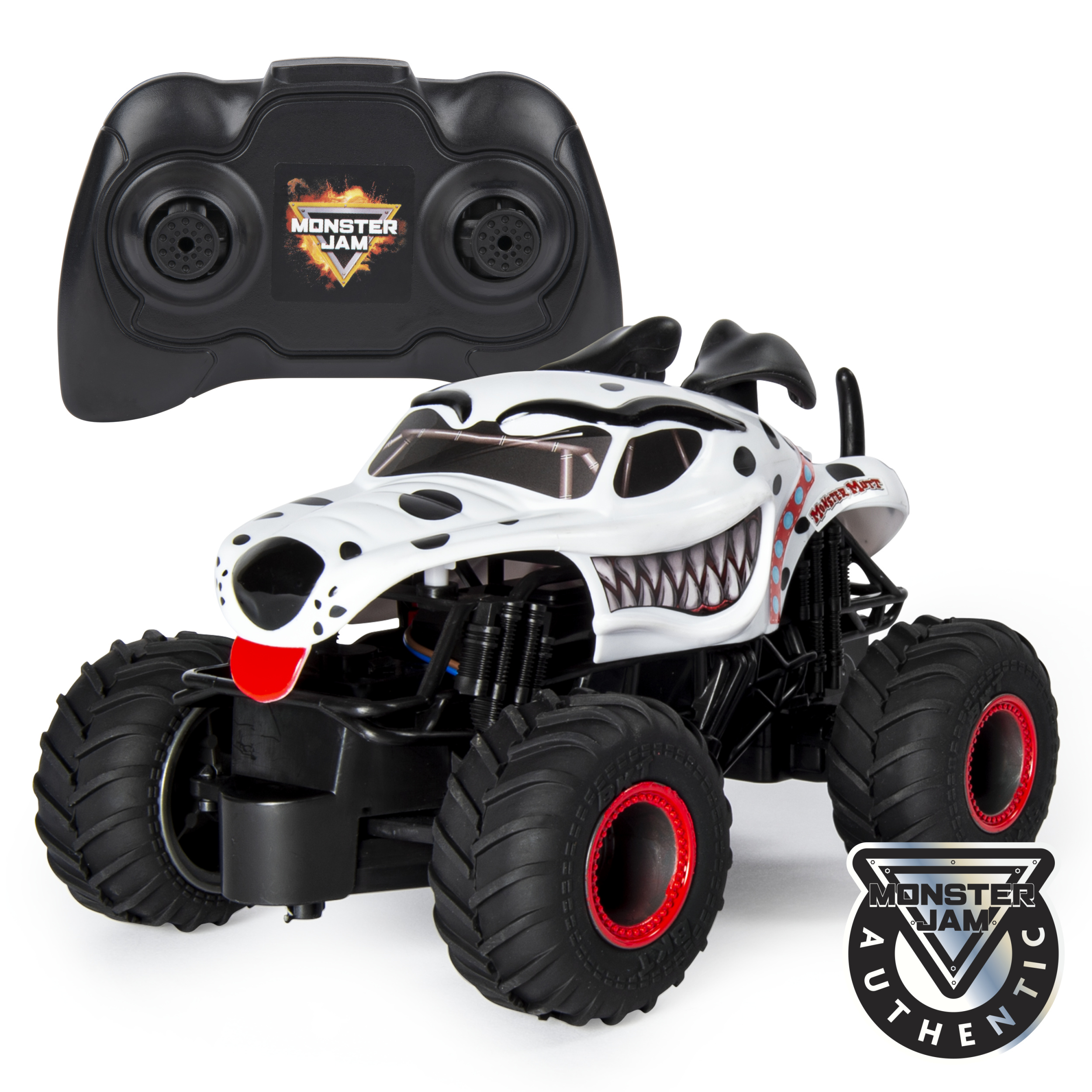 Monster Jam, Official Monster Mutt Dalmatian Remote Control Monster Truck, 1:24 Scale, 2.4 GHz, for Ages 4 and Up