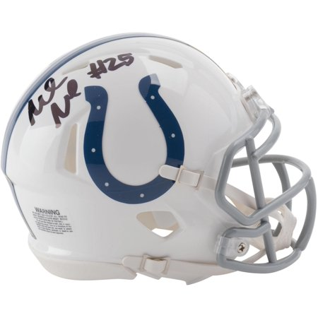 Marlon Mack Indianapolis Colts Autographed Riddell Speed Mini Helmet - Fanatics Authentic Certified