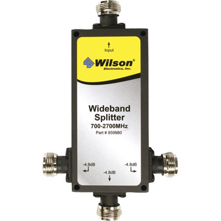 Wilson Electronics 859980 3-Way 700MHz-2300MHz Splitter with N Female Connectors