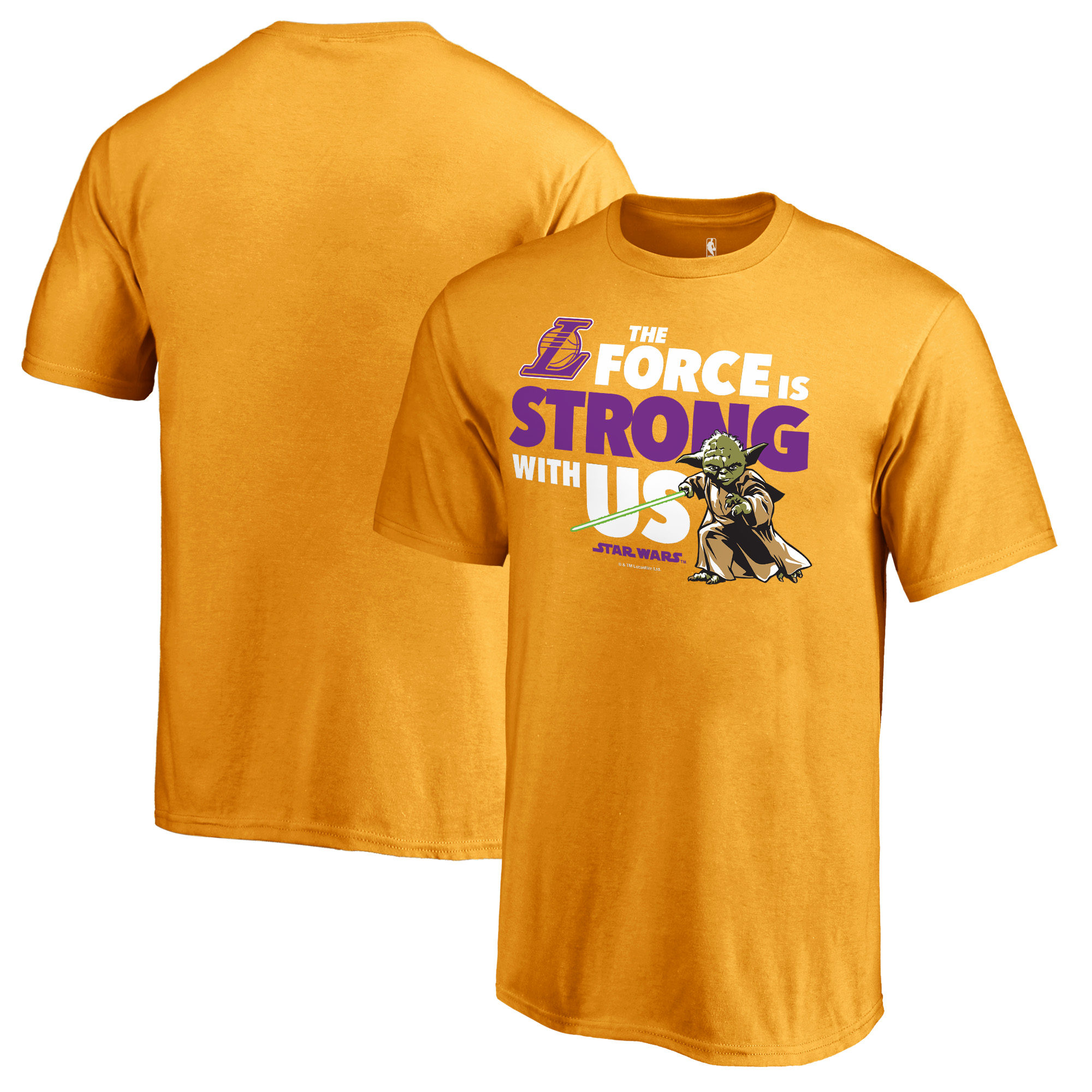 Los Angeles Lakers Fanatics Branded Youth Star Wars Jedi Strong T-Shirt - Gold