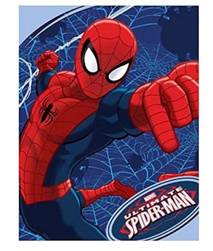 "Spider-Man Plush Microfiber Throw 46"" x 60"""