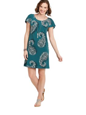 0adcbc9da4c Sold   shipped by maurices. Product Image Short Sleeve Paisley Dress