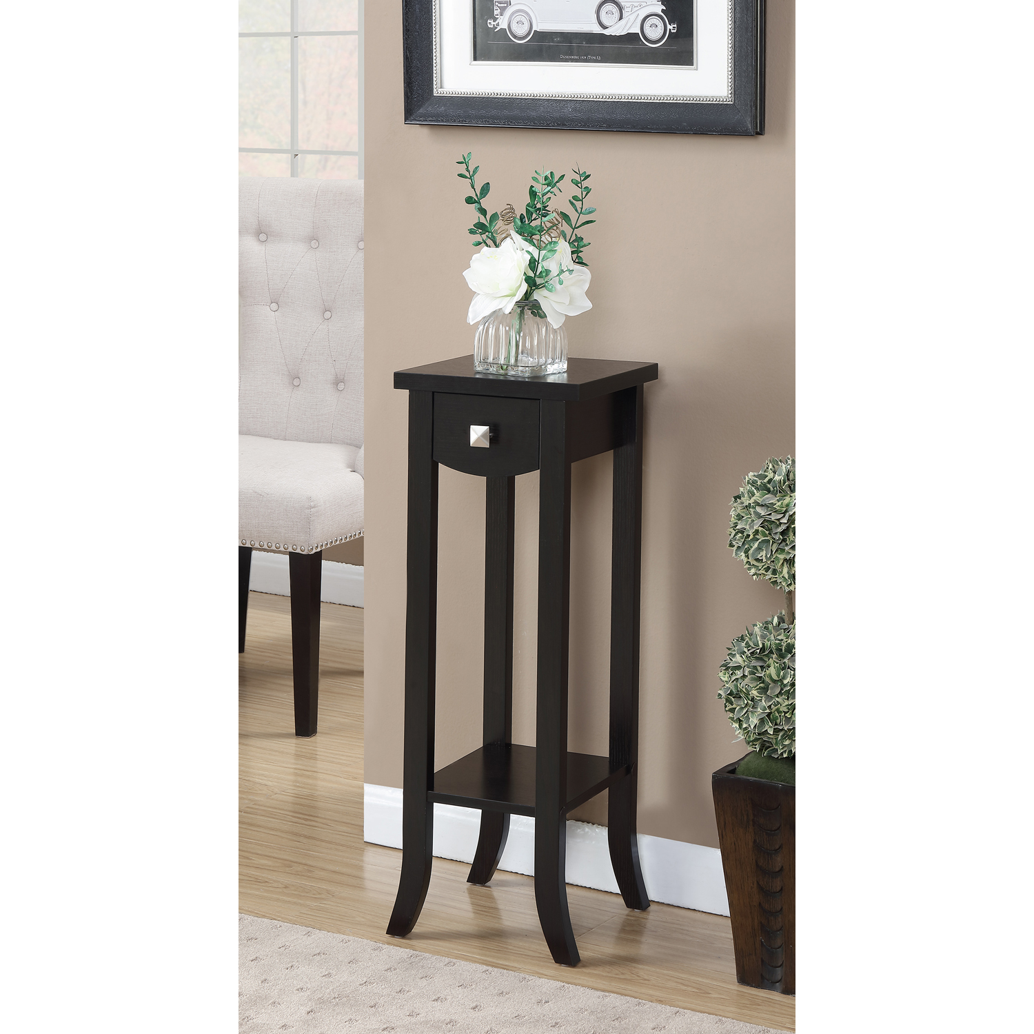 Convenience Concepts Newport Prism Medium Plant Stand by Convenience Concepts