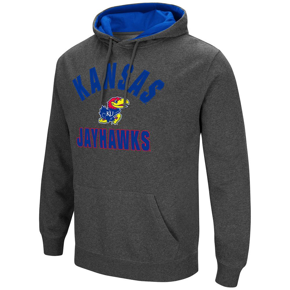 Mens NCAA Kansas Jayhawks Pull-over Hoodie by Colosseum