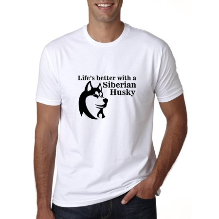 Life's Better with a Siberian Husky - Dog Puppy Men's T-Shirt Siberian Husky Dog T-shirt