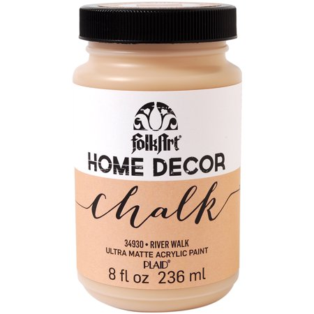 Plaid:Craft Folk Art Home Decor Chalk Paint, 8-Ounce, River Walk Multi-Colored (Folk Art Halloween Crafts)