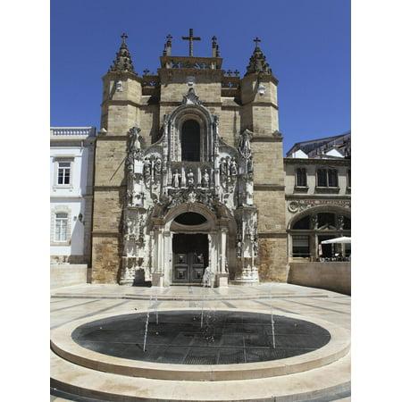 The Santa Cruz Church, with Manueline Facade, on the Praca 8 De Maio Square, Coimbra, Beira Litoral Print Wall Art By Stuart