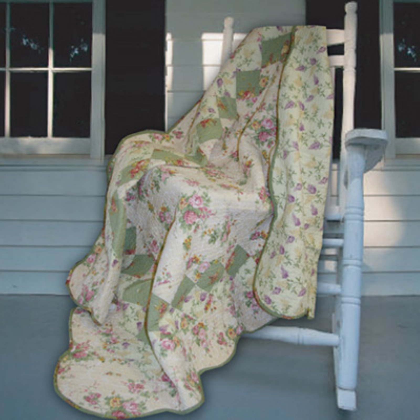 Greenland Home Fashions Bliss - 50W x 60L in. Quilted Throw - Ivory