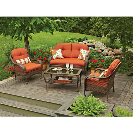 Better Homes And Gardens Azalea Ridge 4-Piece Patio Conversation