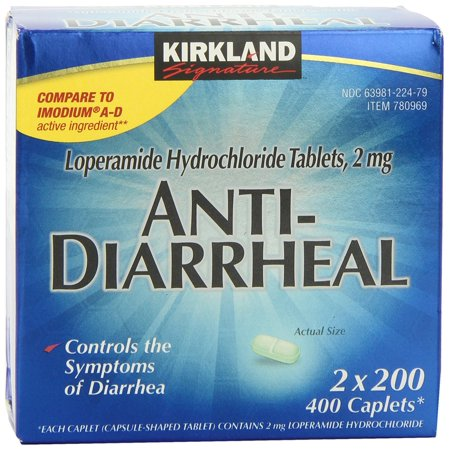Anti Diarrheal 400 Caplets  Prescription 100Mg Tablets Count 400Count Last Bottles Softener Naproxen Mg Mg Compare To Pack 12 Stool Ad    By Kirkland Signature