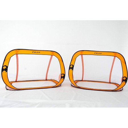 PASS 6' x 4' Pop-Up Soccer Goal (Set of 2) with Carry