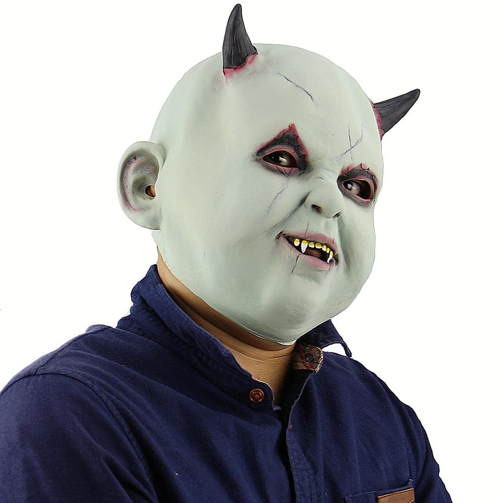 Latex Full Head Toothy Monster Mask Scary Creepy Devil