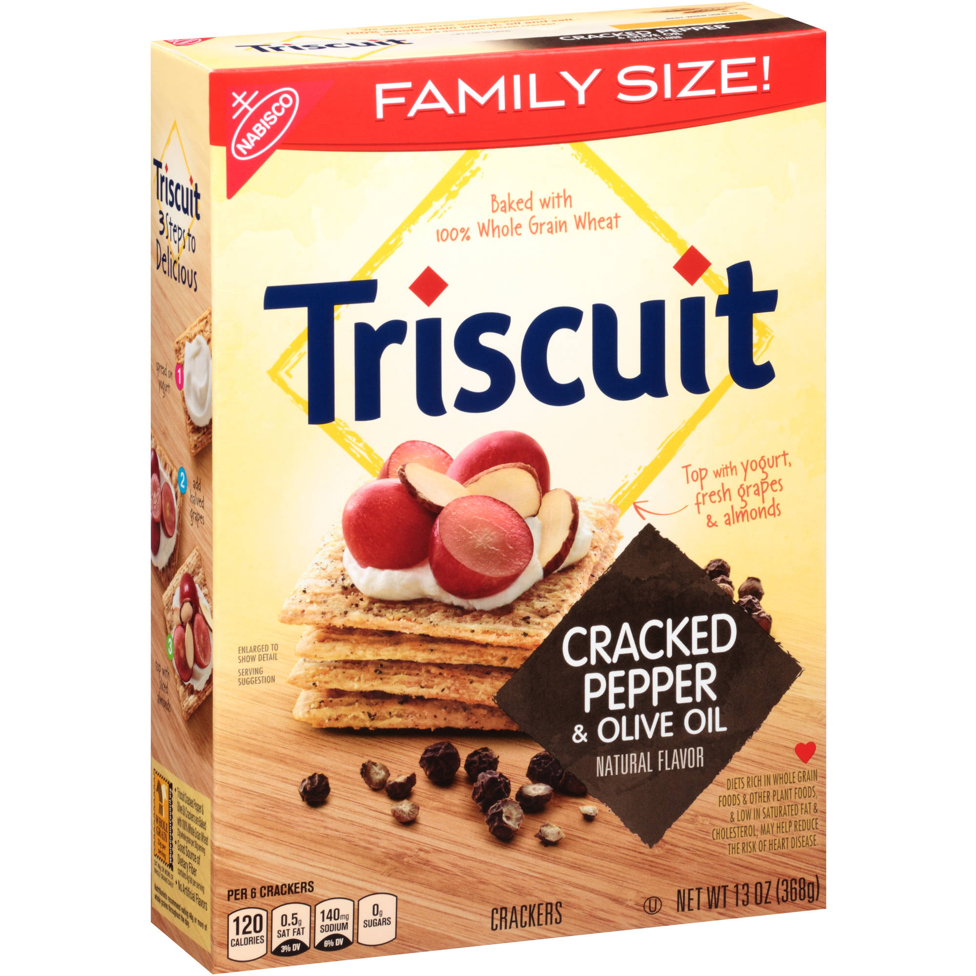 Nabisco Triscuit Cracked Pepper & Olive Oil Crackers, 13 oz