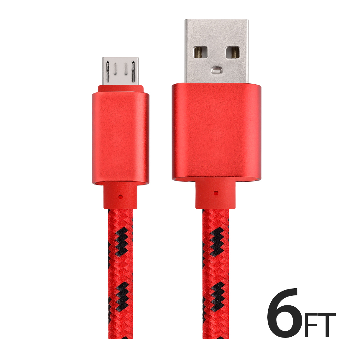Micro USB Cable Charger for Android, FREEDOMTECH 6ft USB to Micro USB Cable Charger Cord High Speed USB2.0 Sync and Charging Cable for Samsung, HTC, Motorola, Nokia, Kindle, MP3, Tablet and more