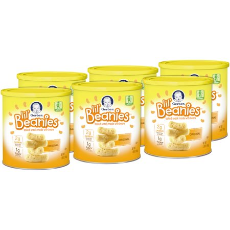 Gerber Lil' Beanies Original, 1.59 oz (Pack of 6)