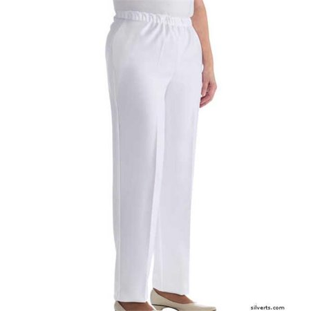 silverts 230802804 womens adaptive wheelchair clothing pants slack, white -