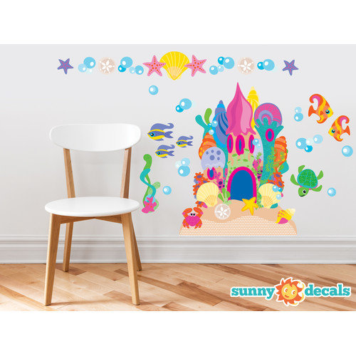 Sunny Decals Sand Castle Wall Decal
