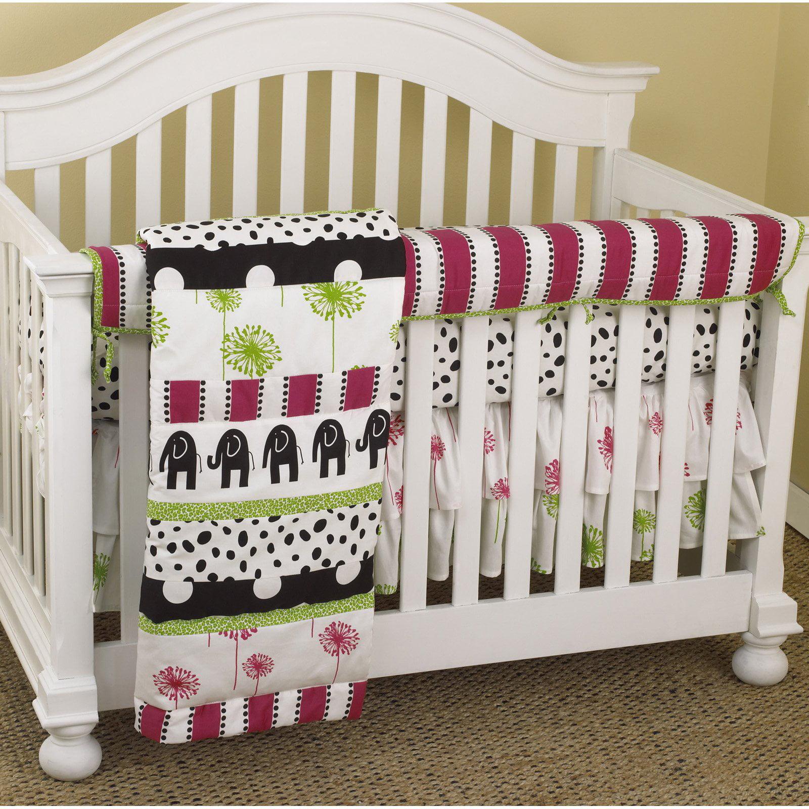 Cotton Tale Designs Hottsie Dottsie Front Crib Rail Cover Up Set