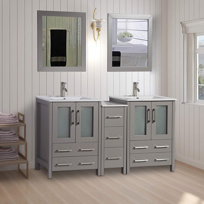 "Vanity Art 60"" Double Sink Bathroom Vanity Combo Set 7 ..."