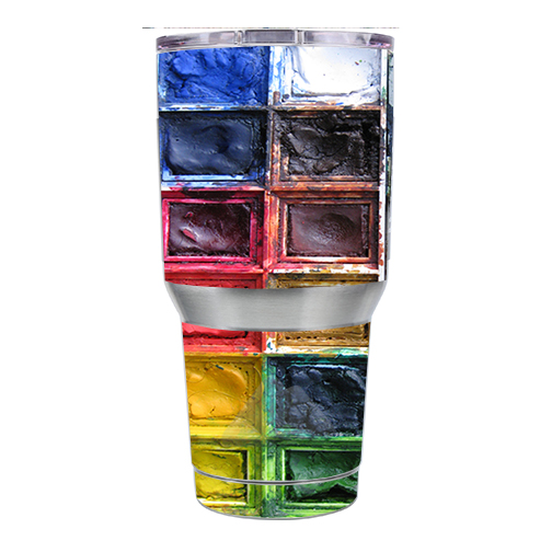 Skin Decal For Ozark Trail 30 Oz. Tumbler / Watercolor Tray Artist Painter