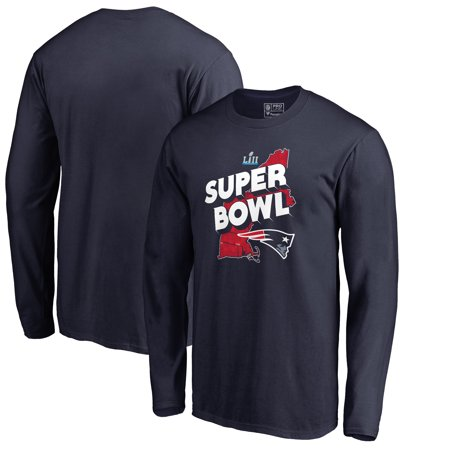 New England Patriots NFL Pro Line by Fanatics Branded Super Bowl LII Bound Hometown Trap Long Sleeve T-Shirt - Navy ()