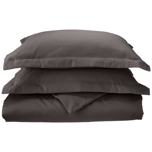 1000 TC 100% Cotton Solid 3 Piece Duvet Cover Set by Superior