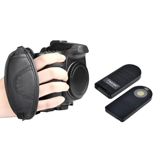 Insten For Nikon D3000 D40 D40x D50 ML-L3 Remote Control+Heavy Duty Hand Grip Strap