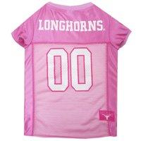 Pets First NCAA College Texas Longhorns Pet Dog Pink Sport Jersey - Large
