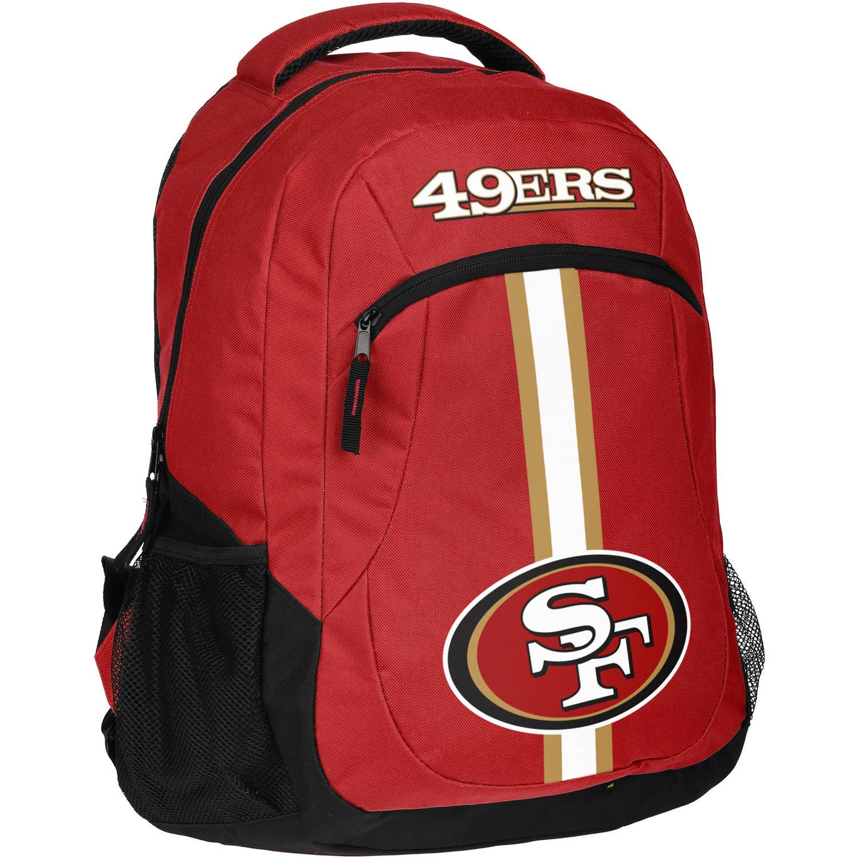 Forever Collectibles NFL San Francisco 49ers Action Stripe Logo Backpack