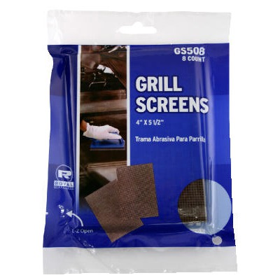 Griddle-grill Screen, Aluminum Oxide, Brown, 4 In X 5-1/2 In, 8 Per Pack RPPG...