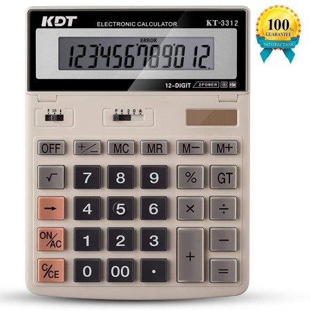 Calculator KDT Handheld Standard Function Desktop Calculators Solar Battery LCD Display Office Calculator Flip