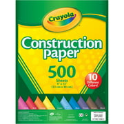 Crayola Construction Paper, 500 Count In 10 Colors
