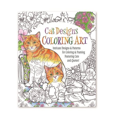Cat Designs Coloring Art Adult Coloring Book