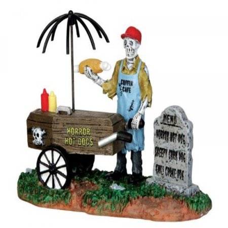 Halloween Hot Dog (Lemax Spooky Town Ghoul Hot Dog Vendor #)