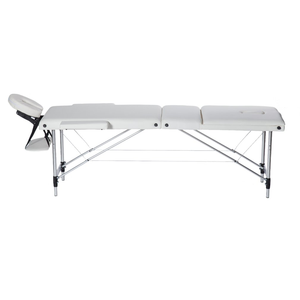 Aluminium Alloy 3 Fold Portable Massage Table Facial SPA ...