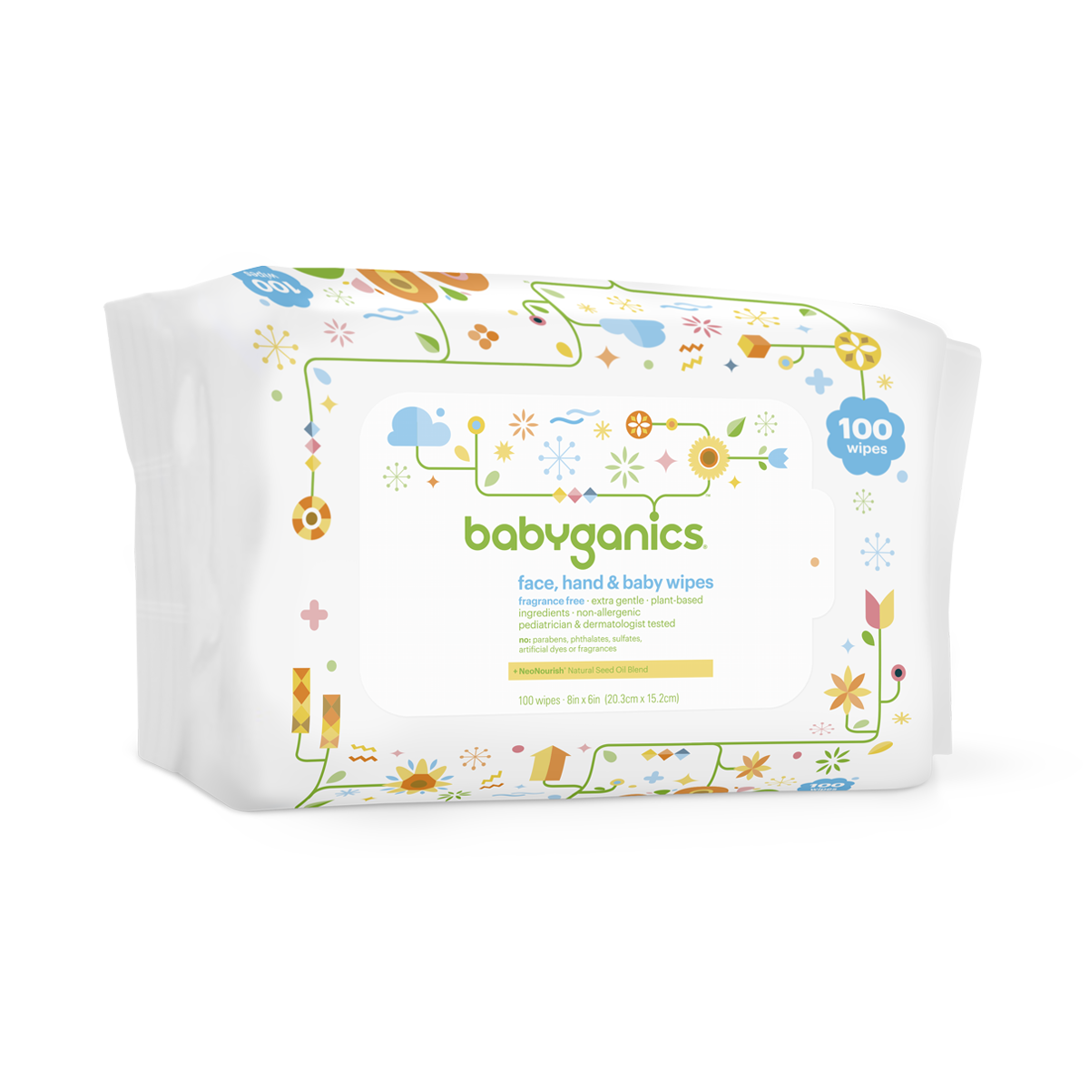NEW BABY COTTON TREE BABY WIPES FRAGRANCE FREE PACK OF 80 WIPES