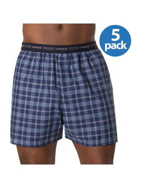 7353a175edd Product Image Big Men s Comfort Flex Exposed Waistband Blue Plaid Boxer  2XL